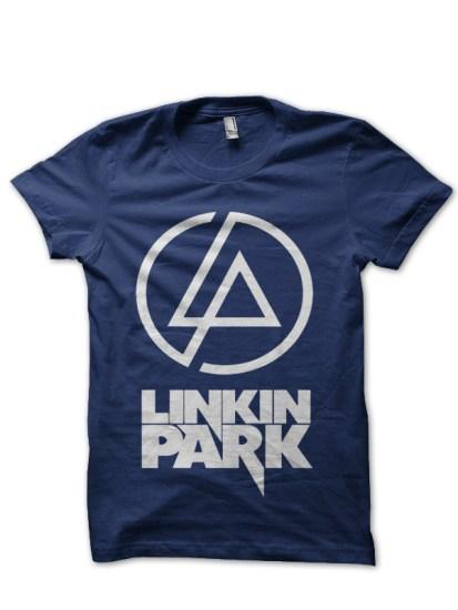 linkin park navy blue t-shirt