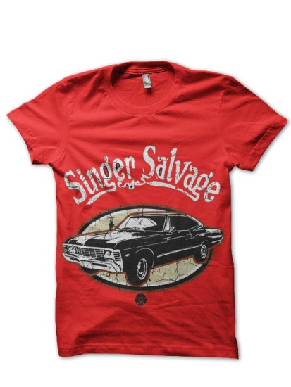 sinjger salvage red tshirt
