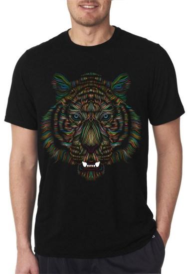 tiger black tshirt