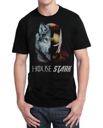 house stark black tshirt