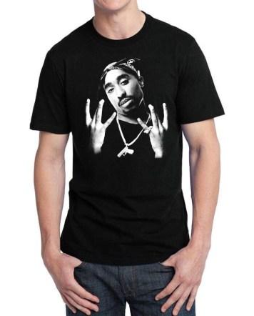 tupack black tshirt