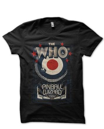 the who pinball wizard black tshirt