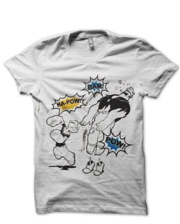 popeye white tshirt