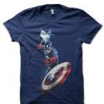 Captain America Navy Blue T-Shirt