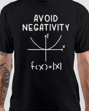 Avoid Negativity Funny Math T-Shirt