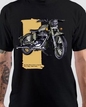 Royal Enfield Military Desert Storm Bullet T-Shirt