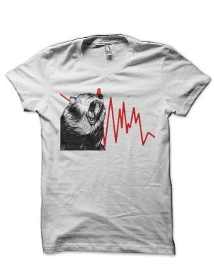 Sharemarket Bear White T-Shirt