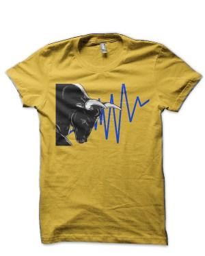 Share Market Bull Yellow T-Shirt