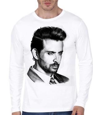 Hrithik roshan Portrait Full Sleeves Tshirt