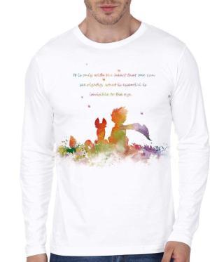 Little Prince Art Print Full Sleeve White T-Shirts