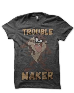 Tasmanian devil trouble marker tshirt