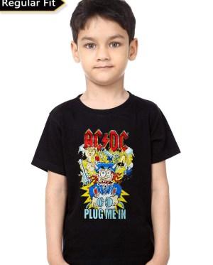 Ac Dc Plug Me In Kids T-Shirt