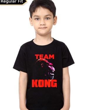 Team Kong Black Kids T-Shirt