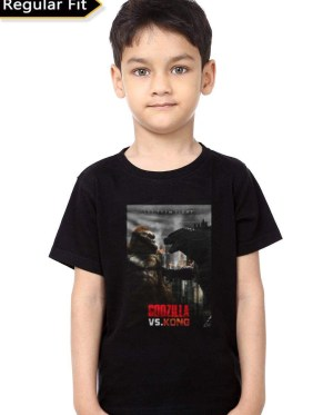 Godzilla Vs Kong Black Kids T-Shirt