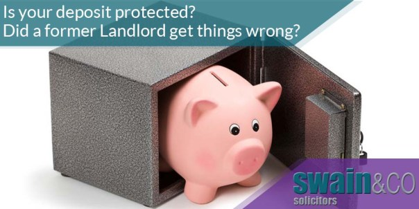 Protection of security deposits and the law | Swain & Co Solicitors