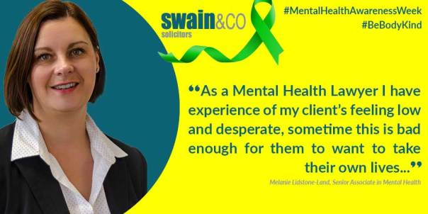 Mental Health Awareness Week 2019 | Mental Health Lawyers & Solicitors | Swain & Co Solicitors