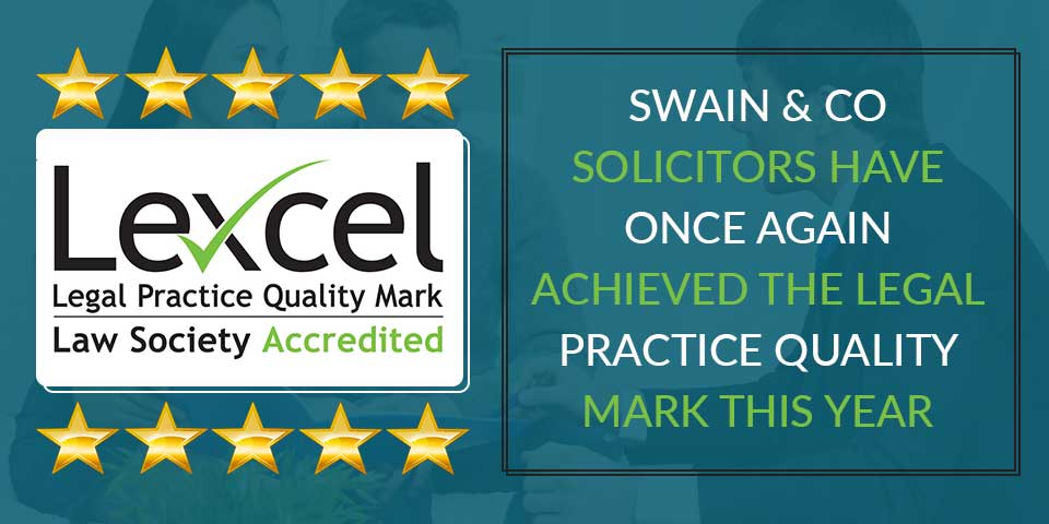 Swain & Co Solicitors have once again achieved the legal practice quality mark for client care, compliance and practice management.