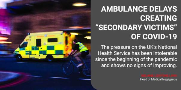 "Ambulance delays creating ""secondary victims"" of Covid-19"