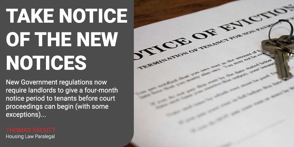 Take Notice of the New Notices