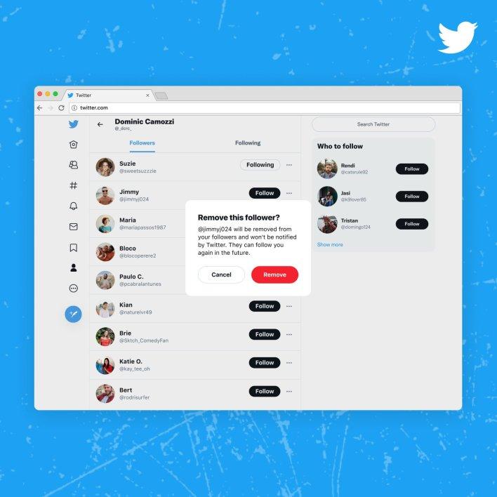 أداة تويتر لإزالة المتابعين غير المرغوب فيهم تصل لمستخدمي الويب