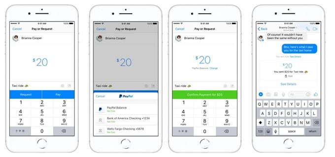 تطبيق فيس بوك ماسنجر يسمح الان بنقل الاموال عبر باي بال