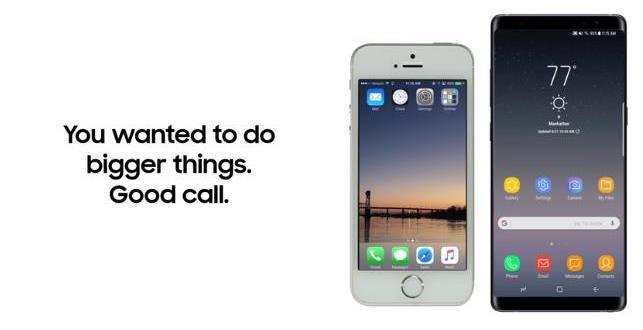 سامسونج تشرح في فيديو جديد كيف تنقل بياناتك من الايفون الى هاتف جالاكسي نوت 8