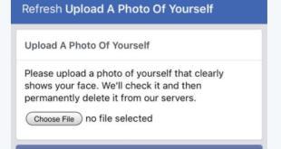 فيس بوك ربما تطلب منك صورة سيلفي لتعيد حسابك اليك