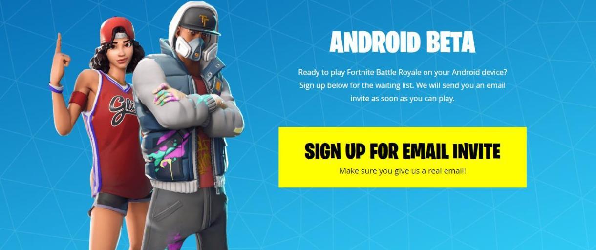 يمكنك الأن طلب دعوة لتحميل لعبة Fortnite على هاتفك الاندرويد