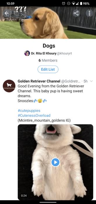 تويتر تحدّث (القوائم) بمزايا جديدة على نسخة اندرويد 2