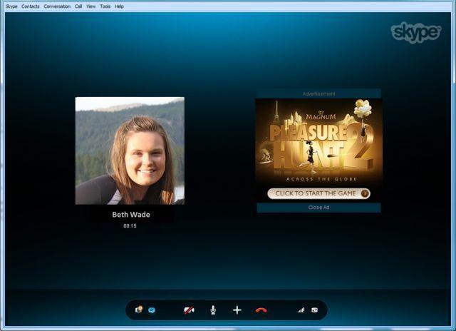 الاعلانات تصل الى مكالمات سكايب 8