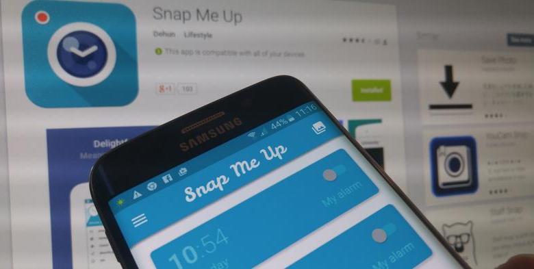 تطبيق Snap Me Up للاندرويد : التقط صورة سيلفي حتى يصمت المنبه 9