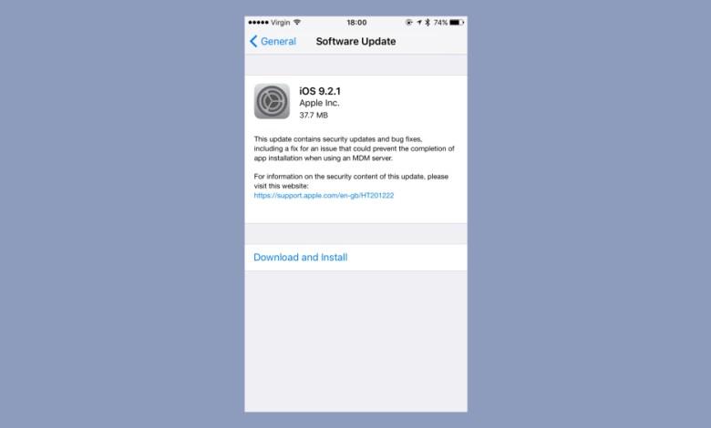ابل تطلق الاصدار iOS 9.2.1 لحل مشاكل أمنية 6