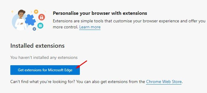 كيف تضيف (Extension) لمتصفح ايدج مايكروسوفت في 2021 3