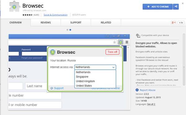 5 اضافات (VPN) لمتصفح جوجل كروم لحمايتك على الانترنت 2