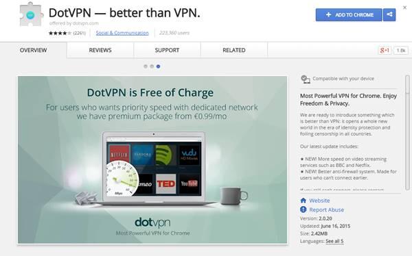 5 اضافات (VPN) لمتصفح جوجل كروم لحمايتك على الانترنت 3