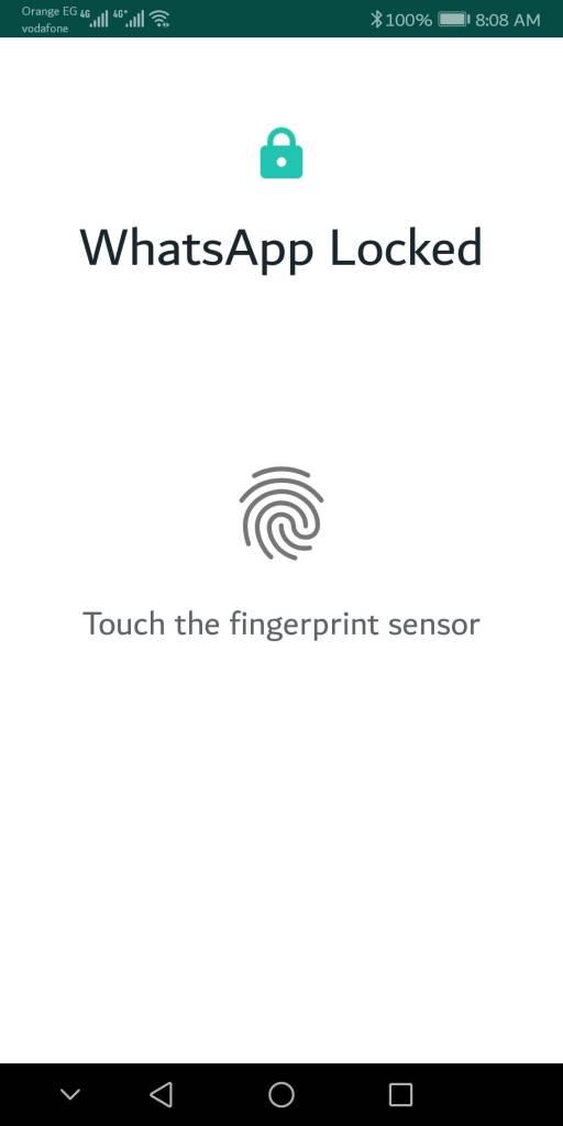 واتس آب تضيف ميزة تأمين التطبيق ببصمة الاصبع (النسخة البيتا) 3