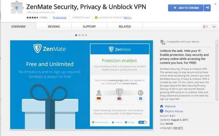 5 اضافات (VPN) لمتصفح جوجل كروم لحمايتك على الانترنت 4