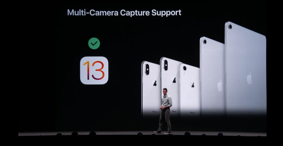 iOS 13 سيقدم دعم متعدد للكاميرا الخلفية والامامية