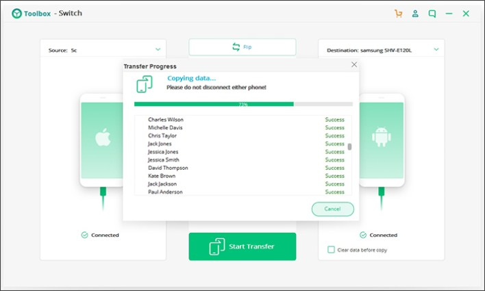 مراجعة برنامج iSkysoft Toolbox - Switch لنظامي iOS&Android 4