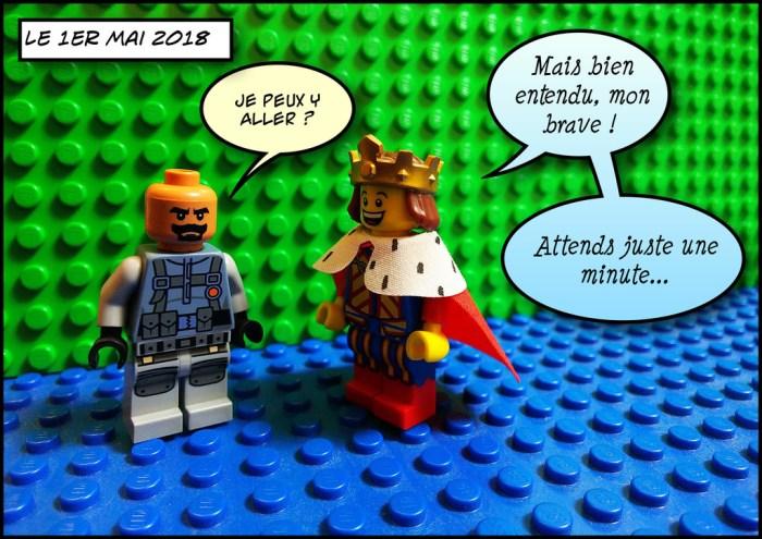Macron et Benalla discutent le premier mai