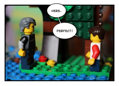 Father and Son - Lego - Social Distancing - 7