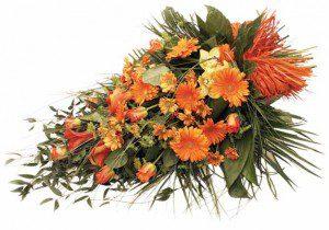 Orange Floral Arrangement - Swanborough Funerals