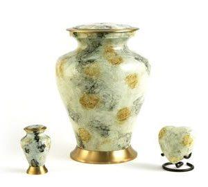 Glenwood White Marble Cremation Urn