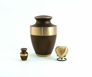 Lineas Rustic Bronze Cremation Urn