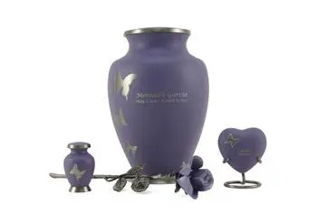 Aria Lavender Butterfly Cremation Urn