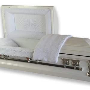 Serenity White Metal Casket