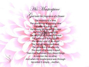 Deceased Mother Poems and Funeral Poems for Mother