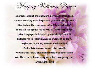 Funeral Prayers - Marjory Williams Prayer