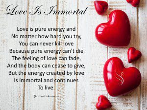 Funeral Poem Love is Immortal