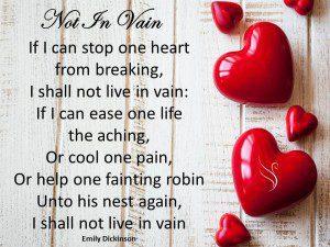 Funeral Poem Not In Vain